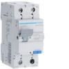 Дифференциальный автоматический выключатель 10 А / 30mAC / C хар /  AC тип / 4,5 kA / 1+N полюс / Hager