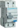 Дифференциальный автоматический выключатель 25 А / 30mA / C хар /  A тип / 6kA / 1+N полюс / Hager