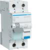 Дифференциальный автоматический выключатель 10 А / 30mA / C хар /  A тип / 6kA / 1+N полюс / Hager