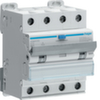 Дифференциальный автоматический выключатель 10 А / 30mA / B хар /  A тип / 6kA / 4 полюса / Hager