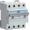 Дифференциальный автоматический выключатель 13 А / 30mA / C хар /  A тип / 6kA / 4 полюса / Hager