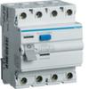 Устройство защитного отключения 40 А / 30mA / A тип / 4 полюса / Hager