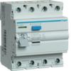 Устройство защитного отключения 25 А / 100mA / AC тип / 4 полюса / Hager