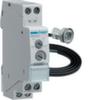 Выключатель сумеречный 0-2000 Лк, на дин-рейку с датчиком освещённости EEN002(IP55), 16А 250В, ширина 1М(17,5мм)