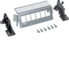 Патч-панель 6-местная, для вставок типа Keystone, пустая, для фиксации на дин-рейку или винтами