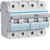 Автоматический выключатель 4P 16KA D-125A   6M