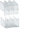 Крышки изолирующие выводов сверху и снизу 3P,  для переключателей HIM 20-40A, прозрачный пластик  Hager