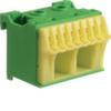 Блок PE-клемм 10 клеммных выходов: 8х4мм2 безвинтовых, 2х16мм2 винтовой, ширина - 45мм. Hager