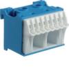 Блок N-клемм 10 клеммных выходов: 8х4мм2 безвинтовых, 2х16мм2 винтовой, ширина - 45мм. Hager