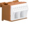 Блок P-клемм 10 клеммных выходов: 8х4мм2 безвинтовых, 2х16мм2 винтовой, ширина - 45мм. Hager
