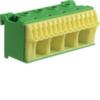 Блок PE-клемм 18 клеммных выходов: 14х4мм2 безвинтовых, 4х16мм2 винтовой, ширина - 75мм. Hager