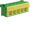 Блок PE-клемм 22 клеммных выходов: 17х4мм2 безвинтовых, 5х16мм2 винтовой, ширина - 90мм. Hager