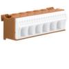 Блок P-клемм 26 клеммных выходов: 20х4мм2 безвинтовых, 6х16мм2 винтовой, ширина - 105мм. Hager