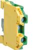 Клемма Наборная, винтовая, заземляющая PE, 0.5 - 6мм2, 800В, проходная,жёлто-зёленая