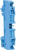 Клемма Наборная, N, 0.13 - 4мм2, пружинные конт., 800В/32A, проходная,синяя