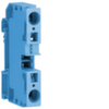 Клемма Наборная, N, 4 - 16мм2, пружинные конт., 800В/76A, проходная,синяя