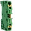 Клемма Наборная, заземляющая PE, 2.5 - 10мм2, пружинные конт., 800В, проходная,жёлто-зелёная
