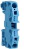 Клемма Наборная, N, 2.5 - 10мм2, пружинные конт., 800В/57A, проходная,синяя