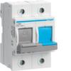 Рубильник для предохранителей D02 1P+N 63A 400V AC 110/220V DC