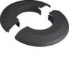 Декоративная накладка для гибкого круглого короба, серая RAL 9005 Hager