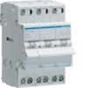 Групповой переключатель Hager с нулевым положением(с основного питания на генератор), 40A, 3-пол., 3 модуля