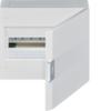 Щит vega Hager навесной раcпределительный 1 ряд, 18М, до 90А 400В АС, с клеммами N/PE, дверь непрозрачная, RAL9010