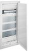 Щит Volta Hager скрытой установки, для полых стен(гипсокартон), мультимедийный с монт. панелями, тройной розеткой Schuko, патч-панелью и держателем роутера IP30, RAL9010, made in Germany