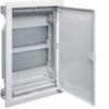 Щит Volta Hager встраиваемый для сплошных стен, в корп. 2-х рядного, с перфорированной дверью, с 2-мя монт. панелями, без клемм, IP30, RAL9010