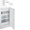 Щит Volta Hager скрытой установки(дверь с пластиковой вставкой ), мультимедийный с монтажными панелями, тройной розеткой Schuko, патч-панелью и держателем роутера, IP30, RAL9010, made in Germany