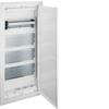Щит Volta Hager скрытой установки, для сплошных стен, мультимедийный с монт. панелями, тройной розеткой Schuko, патч-панелью и держателем роутера IP30, RAL9010, made in Germany