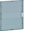 Дверь прозрачная матовая с рукояткой для щитов VB218, пластик
